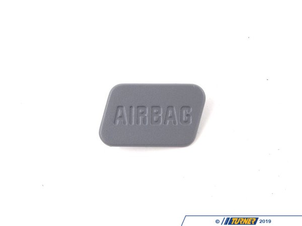 Genuine BMW SRS Airbag Door Emblem - Grey - Right - E36, Z3 51417028800