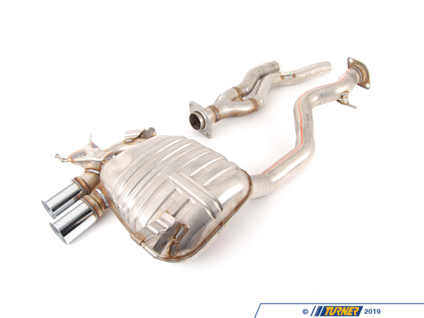 T#5231 - 18102208806 - BMW M Performance Muffler - E82 135i, E88 135i - 2008+ - The E82 135i BMW M Performance exhaust system is made of high quality stainless steel with 2 x 80 mm chrome-plated tail pipes. Developed with the latest CAD and FEM technology for the best fit and OEM quality. Due to an optimized exhaust flow, this muffler produces an incredible note without the inherent interior cabin droning noise associated with some aftermarket exhaust systems. Exhaust backpressure is also decreased with the BMW Performance exhaust. Clamping sleeves and other essential fastening material is included.This item fits the following BMWs:2008+  E82 BMW 135i Coupe2008+  E88 BMW 135i Convertible - Genuine BMW M Performance - BMW