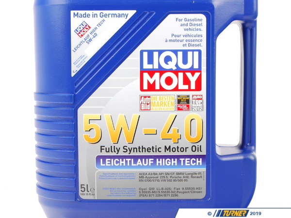 T#379196 - 2332 - Liqui-Moly Leichtlauf High Tech 5W-40 Engine Oil - 5 Liter - Fully synthetic engine oil engineered for engine protection, fuel savings, and reduced oil consumption! - Liqui-Moly - BMW