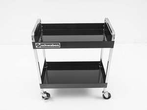 Schwaben Professional Quality Deluxe Two Shelf Service Cart