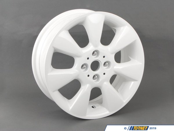 T#66313 - 36116763298 - Genuine MINI Light Alloy Rim, White 61/2Jx16 Et:48 - 36116763298 - Genuine MINI -