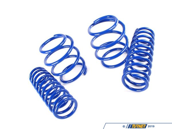 "T#3698 - 29742-2 - H&R Sport Spring Set - E39 525/528/530iS (with Sport package) - Front Lowering -1.20"" Rear Lowering  -0.6""Enhance the look of your BMW E39 5 Series with a reduced fender well gap. H&R Sport Springs lower the vehicle center of gravity and reduce body roll for better handling. The progressive spring rate design provides superb ride quality and comfort. A lower wind resistance signature will make the vehicle more streamlined and improve gas mileage. If you are only looking to improve one part of your vehicles suspension, you cannot go wrong with installing Sport Springs. Fun to drive, H&R Sport Springs are the number one upgrade for your vehicle.We recommend installing Bilstein Sport shocks with these lowering springs.This item fits the following BMWs:1997-2003  E39 BMW 525i 528i 530i  with the factory Sport suspension; not for Touring  - H&R - BMW"