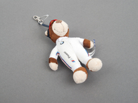 Genuine BMW Motorsport Key Chain 'Teddy' Brown/White - 80272318273