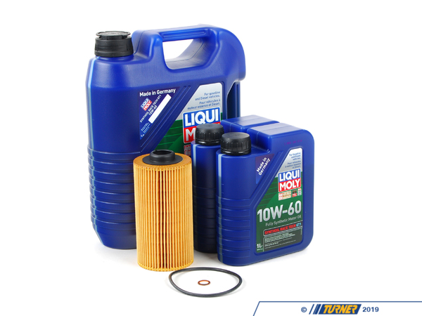Packaged by Turner Liqui Moly Synthoil Race Tech GT1 10w-60 Oil Change Kit - E39 M5 E52 Z8 (S62 5.0L) LM0CK7KT