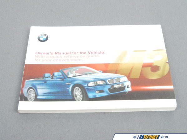 T#26468 - 01410155719 - Genuine BMW Owner's Handbook M3 E46/C - 01410155719 - E46 M3 - Genuine BMW -