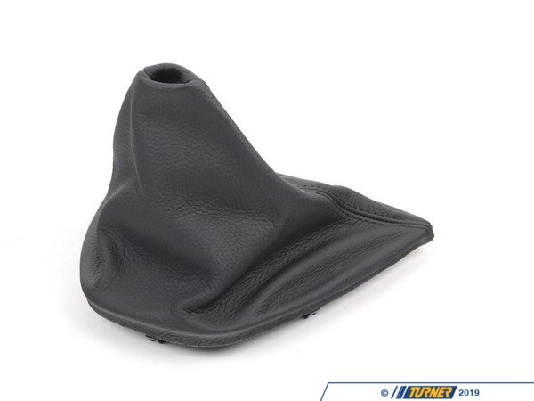 T#52813 - 25117525381 - Genuine BMW Leather Gear Lever Cover - 25117525381 - Dakota Schwarz - Genuine BMW -