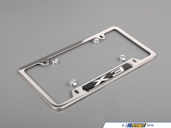 T#24917 - 82120418628 - Genuine BMW License Plate Frame Pol/Chr X3 - 82120418628 - E83 - Genuine BMW -