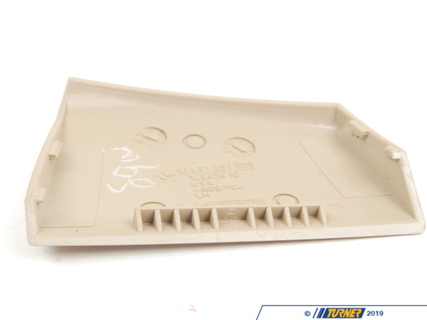 T#103232 - 51437055419 - Genuine BMW Cover, Belt Outlet, Left Beige - 51437055419 - E85 - Genuine BMW -