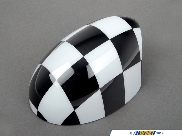 T#80546 - 51140305203 - Genuine MINI Cover, Mirror, Right Checkered - 51140305203 - Genuine MINI -