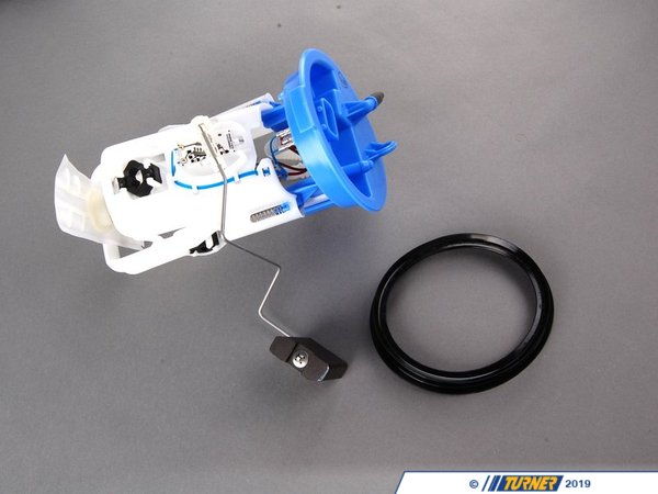 T#1807 - 16142229684 - Genuine BMW Fuel Pump - E46 M3 - A fuel pump failure in the E46M3 can cause lack of power and a low-RPM stumble. Its a fairly common problem, the problem fades away as the revs build and the engine warms up. It's especially noticeable in the Winter and when the outside temperature is low. While a number of things can cause this, you should first change the fuel filter (especially if it's been over 30,000 miles. The fuel pump is another likely source of the trouble. The pump is easy to change by accessing the top of the fuel tank under the backseat. This is a new factory BMW fuel pump.When doing any sort of repair or maintenance there is no replacement for genuine factory parts. Turner Motorsport carries the Genuine BMW brand with pride and has the parts you need to complete your next project with confidence. - Genuine BMW - BMW
