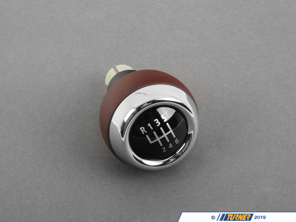 T#52424 - 25110432725 - Genuine MINI Shift Knob, Leather Hot Chocolate - 25110432725 - Genuine Mini -