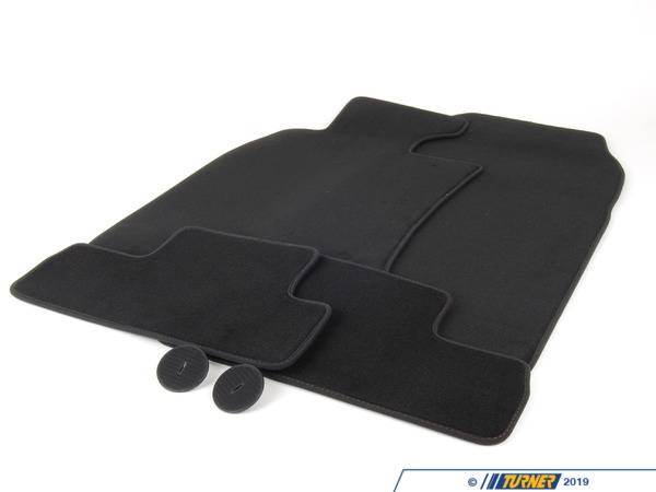T#113672 - 51479126109 - Genuine MINI Set Of Floor Mats Velours Panther Black - 51479126109 - Genuine Mini -