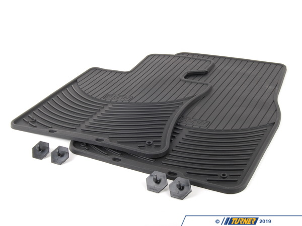 Genuine BMW Genuine BMW Black Rubber Floor Mat Set - Front - E63 82550309447