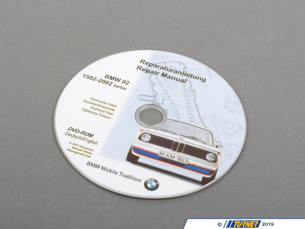 T#6365 - 01560036109 - Genuine BMW Cd Repair Manual 1502-2002 T 01560036109 - Genuine BMW -