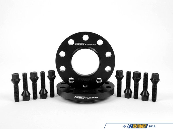 T#368812 - ECS#255KTWB - ECS Tuning Wheel Spacer & Bolt Kit - 15mm - 72.6mm CB - Drastically improve the looks of your vehicle while improving your vehicle's handling characteristics and/or easily adjust your wheel fitment to allow for the proper clearance when installing parts such as new wheels, big brake kits, or lowering suspension components.Interference from components such as shocks, springs, or control arms are a common issue when installing wheel that are not a direct OE size replacement. By moving your wheels a few millimeters each, you can give yourself enough clearance for proper wheel fitment and give your car a wider stance in the process.ECS Tuning wheel spacers are constructed of high quality 6061-T6 aircraft grade aluminum and are specifically designed by in-house engineers and cnc machined to exact standards, ensuring the best fitment possible. By carefully measuring the OEM wheel hubs and bore dimensions, these spacers mount with minimal clearance to prevent any vibration, retaining the stock-like vibration free operation.This kit includes wheel bolts that are lab tested to meet or exceed ISO 898 class 10.9 mechanical and physical properties to ensure perfect fastening of the wheel to the hub with no issues or potential to snap under aggressive driving conditions.ECS Tuning is a performance and genuine parts provider that designs their ECS Tuning branded aftermarket automotive parts in-house to ensure the highest quality and affordability possible. Every part's design is subjected to a rigorous test fit and stress test period to guarantee proper fitment and continued reliability for years to come.This item fits the following BMWs:2008-2012 E82 BMW 128i 135 1M1988-1991 E30 BMW M31992-1998 E36 BMW 318i 318is 318ti 318ic 323is 323ic 325i 325is 325ic 328i 328is 328ic M31999-2005 E46 BMW 323i 323ci 325i 325ci 325xi 328i 328ci 330i 330ci 330xi M32006-2011 E90 BMW 325i 325xi 328i 328xi 328i xDrive 330i 330xi 335d 335i 335xi 335i xDrive M3 - Sedan2006-2012 E91 BMW 325xi 328i 328xi 328i xDrive - Wagon2007-2012 E92 BMW 328i 328xi 328i xDrive 335i 335is 335xi 335i xDrive M3 - Coupe2007-2012 E93 BMW 328i 335i M3 - Convertible1982-1988 E28 BMW 524td 528e 533i 535i 535is M51989-1995 E34 BMW 525i 530i 535i 540i M52004-2010 E60 BMW 525i 525xi 530i 530xi 528i 528xi 528i xDrive 535i 535xi 535i xDrive 545i 550i M51982-1989 E24 BMW 633csi 635csi M62004-2010 E63 BMW 645ci 650i M61981-1987 E23 BMW 733i 735i1988-1994 E32 BMW 735i 735il 740i 740il 750il1995-2001 E38 BMW 740i 740il 750il1990-1999 E31 BMW 840i 840ci 850i 850ci 850csi1997-2002 Z3 BMW Z3 1.9 Z3 2.3 Z3 2.5i Z3 2.8 Z3 3.0i M Roadster M Coupe2003-2008 E85 BMW Z4 2.5i Z4 3.0i Z4 3.0si Z4 M Roadster M Coupe2009-2016 Z4 BMW Z4 sDrive28i Z4 sDrive30i Z4 sDrive35i Z4 sDrive35is - ECS - BMW