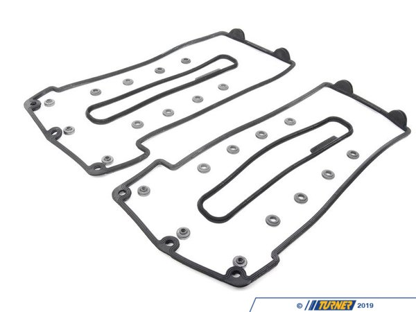 T#214354 - TMS214354 - Valve Cover Gasket Set - E39 M5, E52 Z8 - Replacement valve cover gaskets, including large cover gaskets and seals and grommets. Fits E39 M5 and E52 Z8 with S62 engine. Kit includes:11120001269 - Valve Cover Gasket Cyl 1-411120001278 - Valve Cover Gasket Cyl 5-811121721879 - Valve Cover Seals x 611121437395 - Valve Cover Seal Grommet x 20This item fits the following BMWs:2000-2003  E39 BMW M52000-2003  E52 BMW Z8 Roadster - Packaged by Turner - BMW
