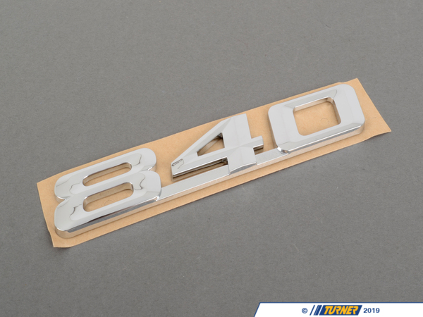 T#81332 - 51148152860 - Genuine BMW Emblem Adhered Rear -840- - 51148152860 - Genuine BMW -