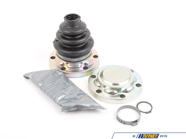 T#12275 - 33219067818 - Rear Axle CV Boot Repair Kit - Inner - E36 325i 325is, Z3 - This is the OEM GKN / Loebro brand rear axle boot kit for the interior CV joint. The kit includes the boot, clip, clamp and grease. This boot can be used on the interior CV joint. This item fits the following BMWs:1991-1995  E36 BMW 325i 325is 325ic1996-1998  E36 BMW 328i - Only for Automatic Transmission 1996-2002  Z3  BMW Z3 2.3 Z3 2.5i Z3 2.8 - Genuine BMW - BMW