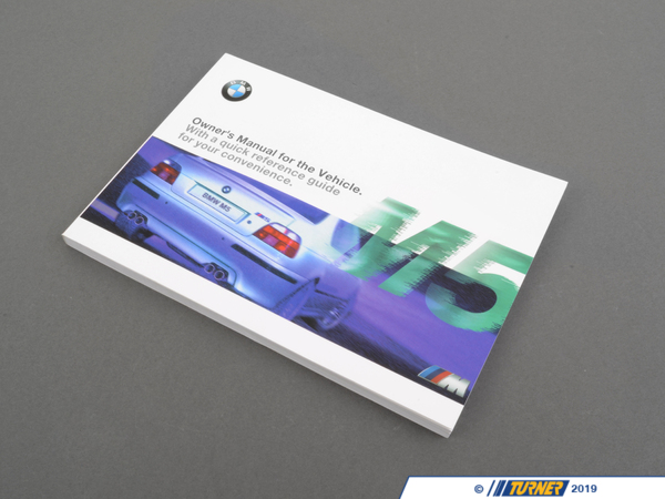 T#26433 - 01410155062 - Genuine BMW Owner's Handbook M5 E39 - 01410155062 - E39 M5 - Genuine BMW -