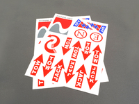 Rennline Safety Sticker and Decal Kit