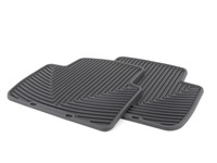 Rear All-Weather Floor Mats - Black - E46 Sedan