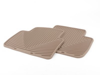 Rear All-Weather Floor Mats - tan - E46 Sedan