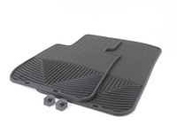 T#372139 - W61 - Front All-Weather Floor Mats - Black - E82 E88 E90 E91 E92 E93 E89 Z4 - WeatherTech - BMW