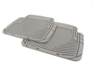 Rear All-weather Rubber Mats - Grey