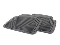 Rear All-weather Rubber Floor Mats - Black - F25
