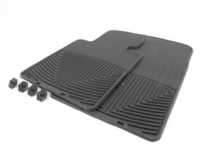 Front All-weather Rubber Mats - Black - F12 F13
