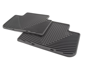 Rear All-Weather Floor Mats - Black - F12 F13