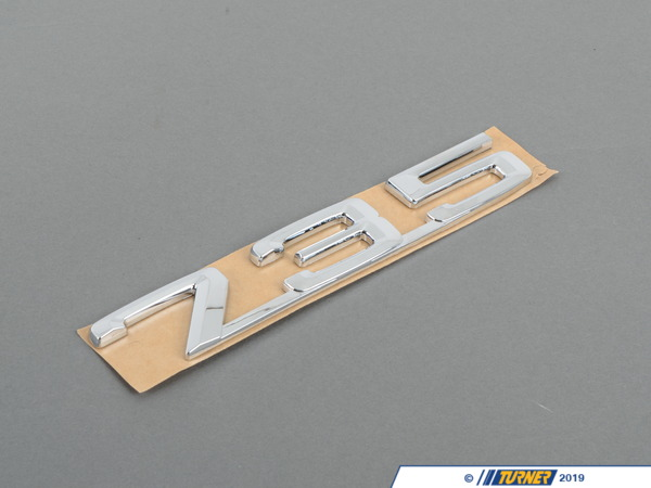 "T#23638 - 51141920782 - Genuine BMW Emblem Adhered Rear ""735"" - 51141920782 - Genuine BMW -"