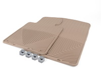 Front All-weather Rubber Floor Mats - Tan - F25