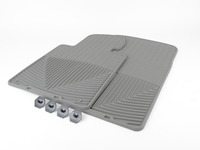 Front All-weather Rubber Floor Mats - Grey