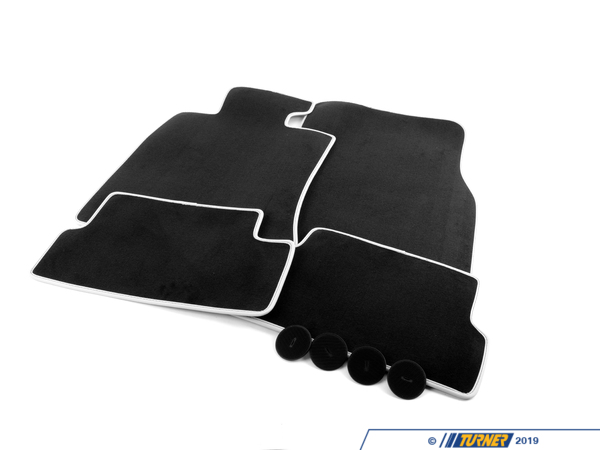 T#112358 - 51477356867 - Genuine MINI Set Of Floormats, Velours, T - 51477356867 - Carbon Black - Genuine MINI -