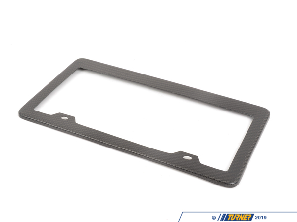 T#5649 - UN-0007 - Carbon Fiber License Plate Frame  - This is a 100% real carbon fiber license plate frame cover.  These 3K twill weave carbon fiber license plate frames fit the standard size US license plate. It's perfect for those automobile enthusiasts with carbon fiber parts on their beloved vehicle or just simply wants to add a performance touch.Please note that this license plate frame is made of real carbon fiber and not aluminum/ plastic with carbon fiber look, those prints will fade and discolor over time.Package will include 1 real carbon fiber license plate frame that fits onto standard size US license plates, screws are not included for the installation. - ECS - BMW