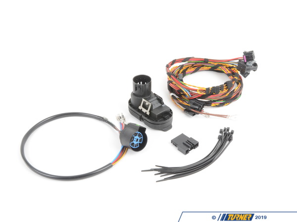 on hitch with wiring harness