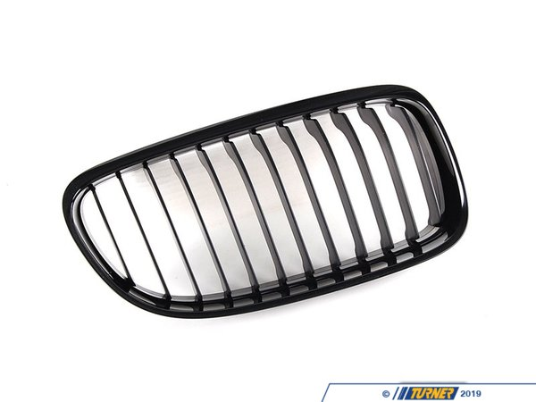 T#5093 - 51712146912 - BMW M Performance Right Gloss Black Grill - E90 2009+ (with M Sport front bumper) - Genuine BMW - BMW