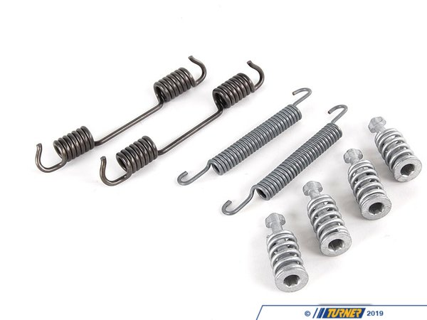 T#12193 - 34419064274 - Parking Brake Spring / Hardware Kit - E36, Z3 - This emergency brake spring kit includes both the tension springs and the  pin that secure the rear parking brake shoes. This item fits the following BMWs:1992-1998  E36 BMW 318i 318is 318ti 318ic 323is 323ic 325i 325is 325ic 328i 328is 328ic 1997-2002  Z3 BMW Z3 1.9 Z3 2.3 Z3 2.5i Z3 2.8 Z3 3.0i  - Genuine BMW - BMW