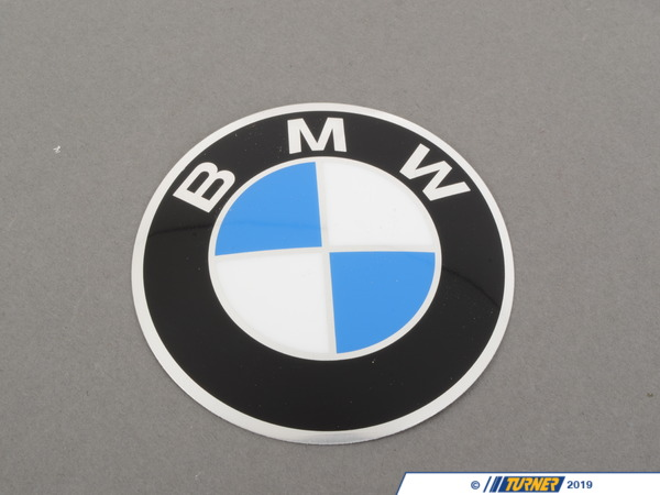 T#8229 - 36131181104 - Genuine BMW Plaque With Adhesive Film D=82mm - 36131181104 - Genuine BMW -