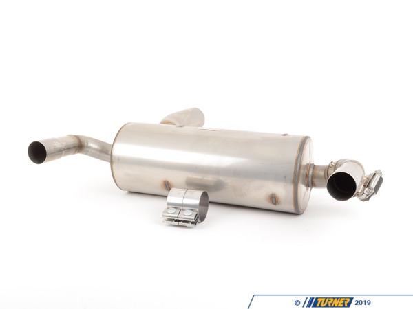 T#338025 - 18302293766 - BMW M Performance Exhaust - for Standard Bumper - F22 M235i -   This is a factory BMW M Performance exhaust for the 2014+ F22 M235i. This is a factory BMW accessory so it fits great, looks and sounds phenomenal, and is exceptional quality. The sound is mildly more aggressive than the stock exhaust with a slightly more throaty note. This exhaust will waken up the stock M235i personality with a better sound and improved flow. If you feel the stock exhaust is just TOO quiet this is a great option without going overboard. A unique high-tech look is provided by two either chrome-plated or Carbon fiber 80mm exhaust tips which are laser engraved with the ///M logo.This exhaust system includes the rear muffler (18302293766 ).  Please select exhaust tip options below. Chrome - (18302354364) Carbon Fiber (18302355889) . A BMW factory exhaust clamp is included to mount to the factory cat section. Not for cars with the factory M Aerodynamics package diffuser!  Please note photos shown are on a car with the M Aero rear diffuserThis item fits the following BMWs:2014+ F22 BMW M235i  - Genuine BMW M Performance - BMW