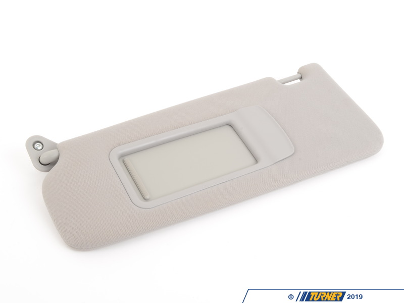 T#82702 - 51166957369 - Genuine BMW Sun Visor, Fabric With Mirro - 51166957369 - Grau - Genuine BMW -