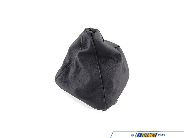 T#12689 - 25111222755 - Genuine BMW Leather Gear Lever Cover Schwarz - 25111222755 - E39 - Genuine BMW -