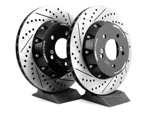 For 1999-2003 BMW 528i,525i Front Rear Drill Slot Brake Rotors+Ceramic Pads