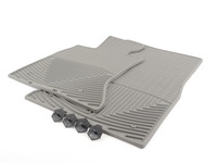 front All-Weather Floor Mats - grey - F10