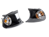 Depo Euro Crystal With Black Housing Corner Assembly Pair - E46 Coupe/Convertible (up to 09/2001)