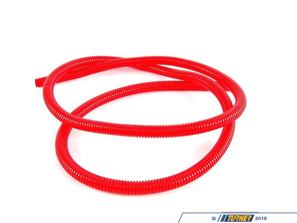 "T#340620 - 7700k153 - Split Wire Loom, 3/8"" Diameter, 5' Length - Red - ECS -"