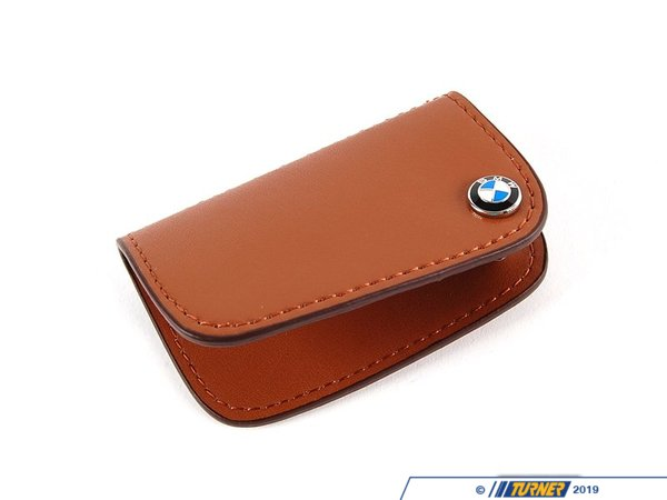 Genuine BMW Genuine BMW Nappa Leather Key Case - Brown 80232149934