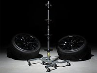Wheel Storage Rack With Casters