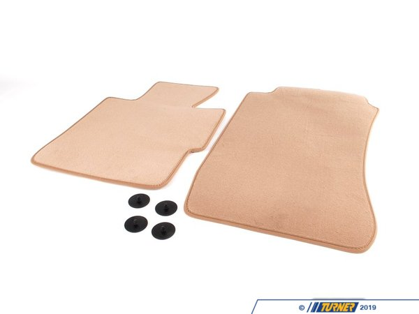 T#111491 - 51477059132 - Genuine BMW Set Of Floor Mats Velours Beige - 51477059132 - Genuine BMW -